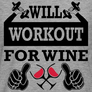 Will Workout For Wine T-Shirts - Men's Premium Longsleeve Shirt
