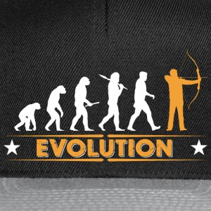 Archery evolution - orange/white T-Shirts - Snapback Cap