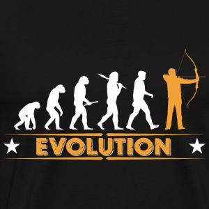 Archery evolution - orange/white Long Sleeve Shirts - Men's Premium T-Shirt