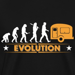 Camping Evolution - orange/weiss Langærmede shirts - Herre premium T-shirt