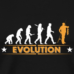 Evolution de poisson - orange/blanc Autres - T-shirt Premium Homme