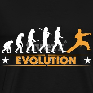 Martial arts evolution - orange/hvid Toppe - Herre premium T-shirt