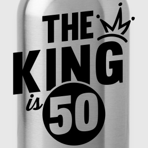 THE KING IS 50 Hoodies & Sweatshirts - Water Bottle