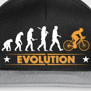 Cycling evolution - orange/white Shirts - Snapback Cap