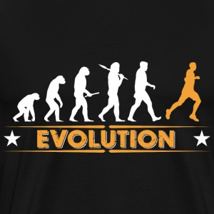 Running Evolution - orange/weiss Sweaters - Mannen Premium T-shirt
