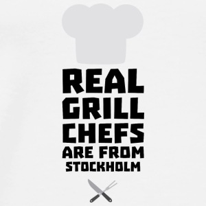 Real Grill Chefs are from Stockholm S6kq5 Bags & Backpacks - Men's Premium T-Shirt
