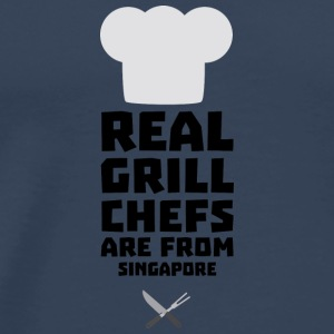 Real Grill Chefs are from Singapore Sme6v Long Sleeve Shirts - Men's Premium T-Shirt