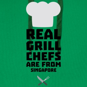 Real Grill Chefs are from Singapore Sme6v Shirts - Men's Premium Hoodie