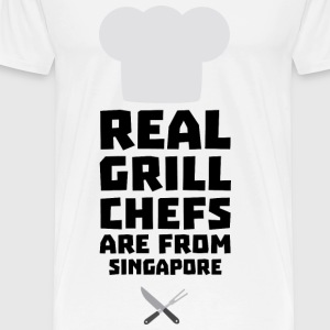 Real Grill Chefs are from Singapore Sb2oj Bags & Backpacks - Men's Premium T-Shirt