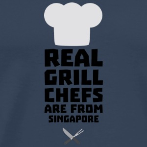 Real Grill Chefs are from Singapore Sb2oj Long Sleeve Shirts - Men's Premium T-Shirt