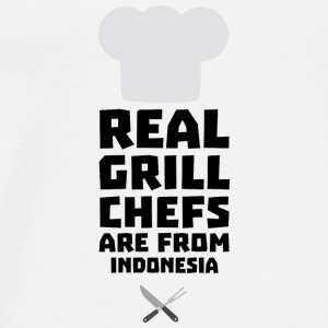 Real Grill Chefs are from Indonesia Sz24t Bags & Backpacks - Men's Premium T-Shirt