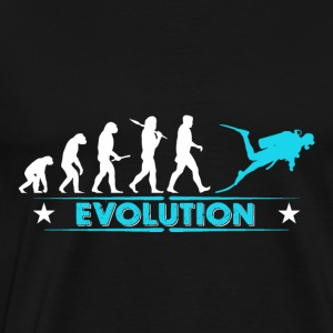 Dive evolution - blue/white Tops - Men's Premium T-Shirt