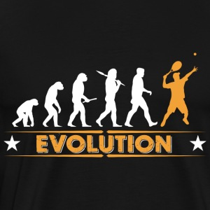 Tennis Evolution - orange/weiss Shirts met lange mouwen - Mannen Premium T-shirt