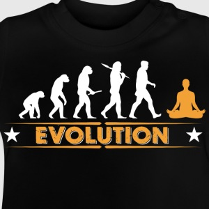Evolution de la méditation de yoga - orange/blanc Tee shirts - T-shirt Bébé