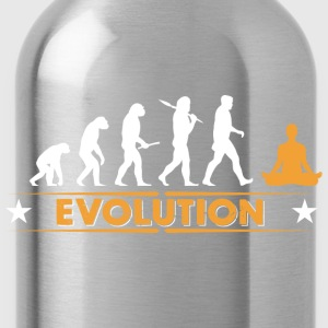 Yoga meditation evolution - orange/vit T-shirts - Vattenflaska