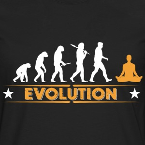 Yoga Meditieren Evolution - orange/weiss T-Shirts - Männer Premium Langarmshirt