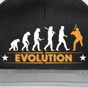 Baseball Evolution - orange/weiss Tee shirts - Casquette snapback