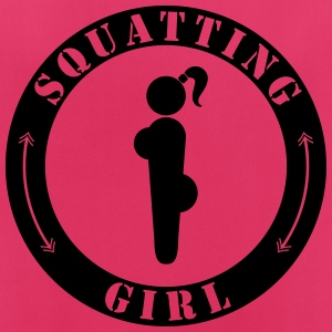 Squatting Girl - Frauen T-Shirt atmungsaktiv