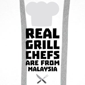 Real Grill Chefs are from Malaysia S8q2q Long Sleeve Shirts - Men's Premium Hoodie