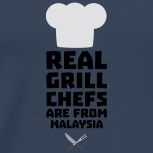 Real Grill Chefs are from Malaysia S8q2q Long Sleeve Shirts - Men's Premium T-Shirt