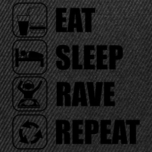 Eat,sleep,rave,repeat ,music,musik,Rave - Snapback Cap