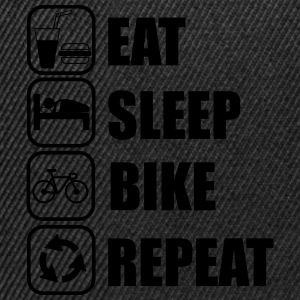 Eat,sleep,bike,repeat,cycling,Shirt - Snapback Cap