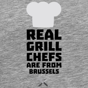 Real Grill Chefs are from Brussels Sxq73 Long Sleeve Shirts - Men's Premium T-Shirt
