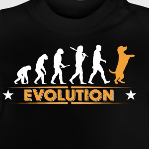 Hund Evolution - orange/weiss Langarmshirts - Baby T-Shirt