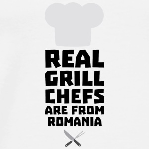 Real Grill Chefs are from Romania S2a9z Bags & Backpacks - Men's Premium T-Shirt