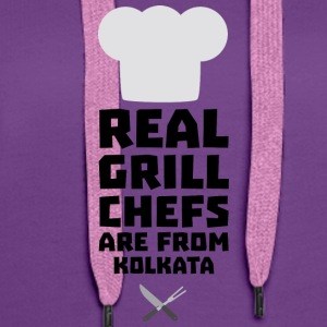 Real Grill Chefs are from Kolkata S16lr Tops - Women's Premium Hoodie