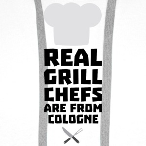 Real Grill Chefs are from Cologne S78il Long Sleeve Shirts - Men's Premium Hoodie