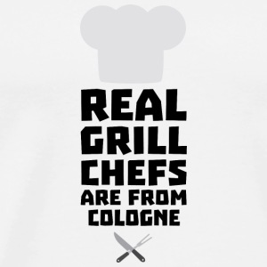Real Grill Chefs are from Cologne S78il Long Sleeve Shirts - Men's Premium T-Shirt