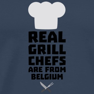 Real Grill Chefs are from Belgium S7677 Long Sleeve Shirts - Men's Premium T-Shirt