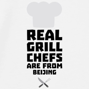 Real Grill Chefs are from Beijing Sa56a Baby Bibs - Men's Premium T-Shirt