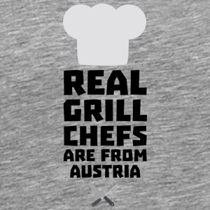 Real Grill Chefs are from Austria Sa5e3 Long Sleeve Shirts - Men's Premium T-Shirt