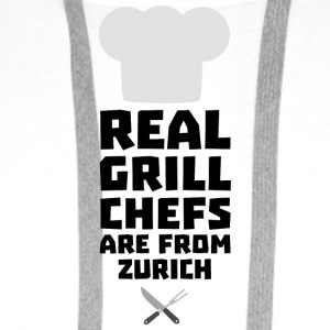Real Grill Chefs are from Zurich Sc57z T-Shirts - Men's Premium Hoodie
