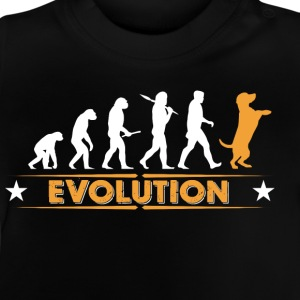 Dog evolution - orange/white Shirts - Baby T-Shirt