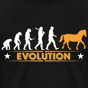 Horse evolution - orange/white Hoodies & Sweatshirts - Men's Premium T-Shirt