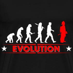 Fire evolution - red/white Hoodies & Sweatshirts - Men's Premium T-Shirt