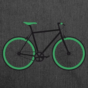 Singlespeed black-green T-Shirts - Shoulder Bag made from recycled material