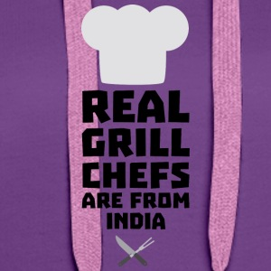 Real Grill Chefs are from India Sxu95 Shirts - Women's Premium Hoodie