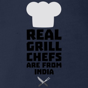 Real Grill Chefs are from India Sxu95 Shirts - Organic Short-sleeved Baby Bodysuit
