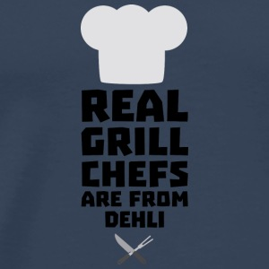 Real Grill Chefs are from Dehli S3hbn Long Sleeve Shirts - Men's Premium T-Shirt