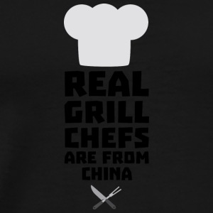 Real Grill Chefs are from China Si775 Sports wear - Men's Premium T-Shirt
