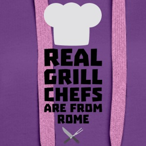 Real Grill Chefs are from Rome S05q0 T-Shirts - Women's Premium Hoodie