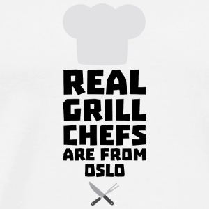 Real Grill Chefs are from Oslo Sfo1n Long Sleeve Shirts - Men's Premium T-Shirt