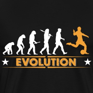 Evolution de football - orange/blanc Sweat-shirts - T-shirt Premium Homme