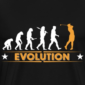 Golf Evolution - orange/weiss Sweatshirts - Herre premium T-shirt