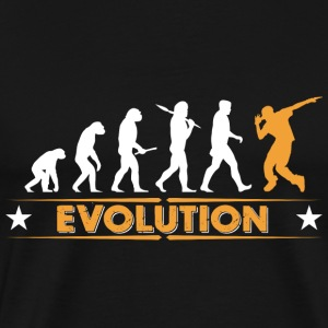 HipHop Breakdance Evolution - orange/weiss Sportbekleidung - Männer Premium T-Shirt