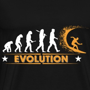 Surfing Evolution - orange/weiss Sweatshirts - Herre premium T-shirt